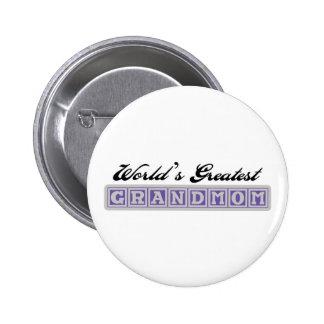 World's Greatest Grandmom Pins