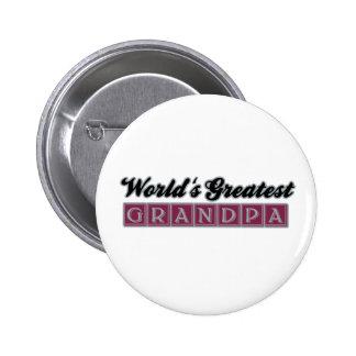 World's Greatest Grandpa (Burgundy) Button