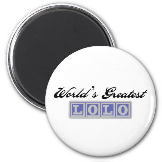 World's Greatest Lolo 2 Inch Round Magnet