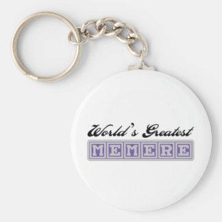 World's Greatest Memere Basic Round Button Keychain
