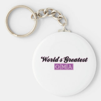 World's Greatest Oma (Purple) Key Chains