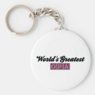 World's Greatest Opa (Burgundy) Keychain