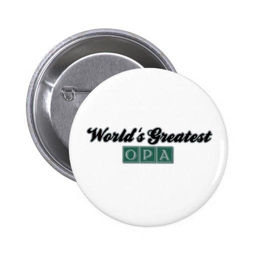 World's Greatest Opa (Green) Button