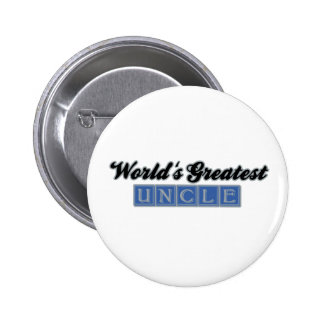 World's Greatest Uncle (Blue) Pinback Button