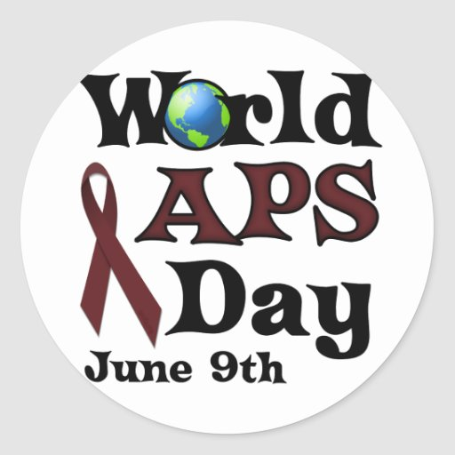 WORLD APS DAY CLASSIC ROUND STICKER