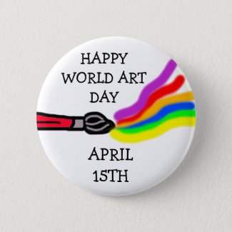World Art Day, April 15th  Button