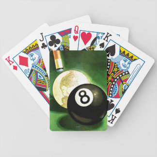 World as Cue Ball Bicycle Playing Cards