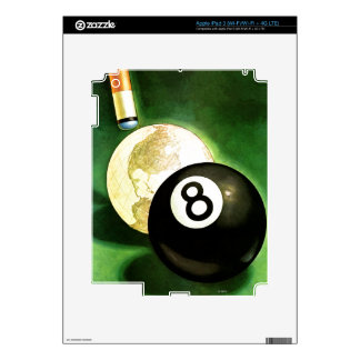 World as Cue Ball Decal For iPad 3