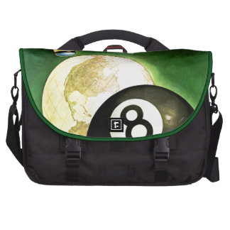 World as Cue Ball Commuter Bags