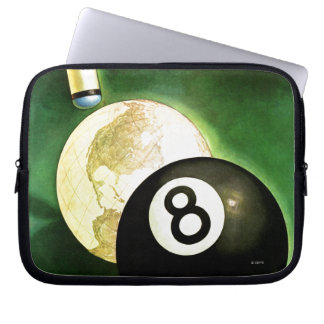 World as Cue Ball Computer Sleeves