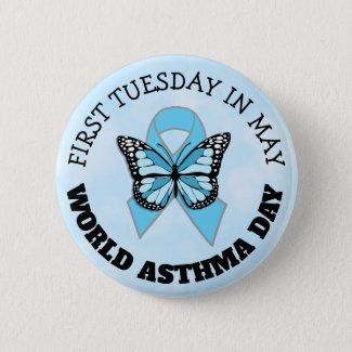 World Asthma Day Button