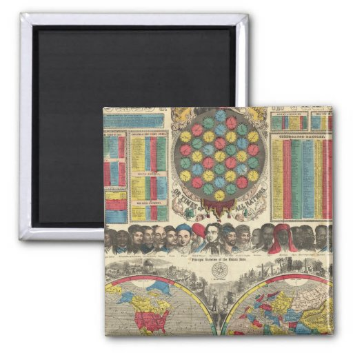 World At One View 2 Inch Square Magnet