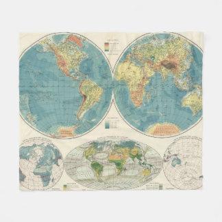 World Atlas Map 2 Fleece Blanket