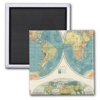 World Atlas Map 2 Fridge Magnets