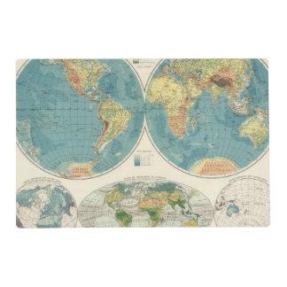 World Atlas Map 2 Placemat