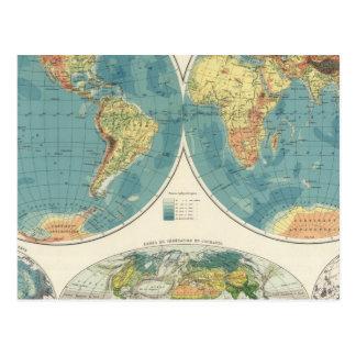 World Atlas Map 2 Postcard
