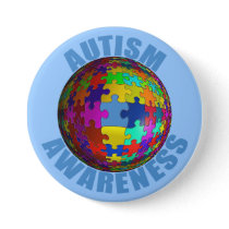World Autism Awareness Button