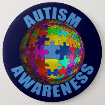 World Autism Awareness Button (extra large)