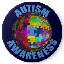 World Autism Awareness Button (extra large)