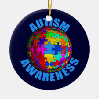 World Autism Awareness Ceramic Ornament