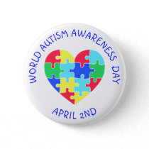 World Autism Awareness Day April 2nd Button