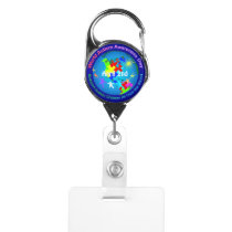 World Autism Awareness Day Badge Holder