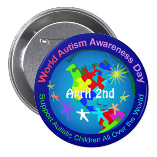World Autism Awareness Day Button