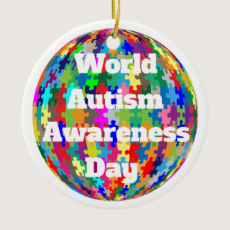 World Autism Awareness Day Ceramic Ornament
