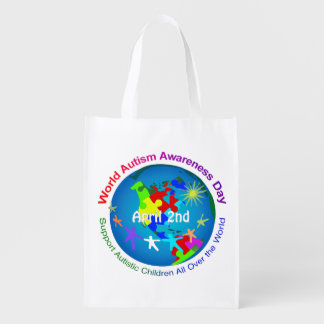 World Autism Awareness Day Grocery Bag