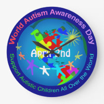 World Autism Awareness Day Large Clock