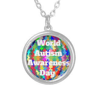 World Autism Awareness Day Silver Plated Necklace