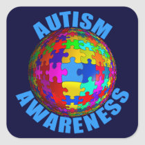 World Autism Awareness Square Sticker