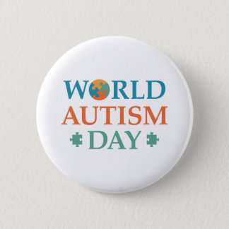 World Autism Day Pinback Button
