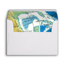 World Awaits Baby Shower Envelope A7 Self Address