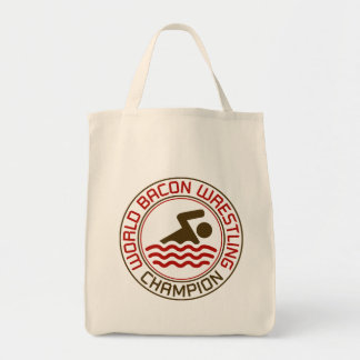World Bacon Wrestling Champion Canvas Bags