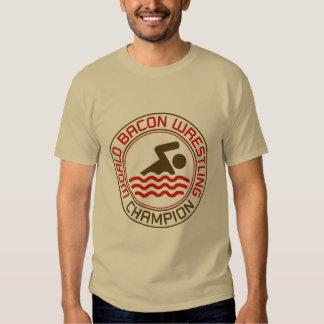 World Bacon Wrestling Champion T Shirt