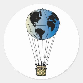 World Balloon Classic Round Sticker