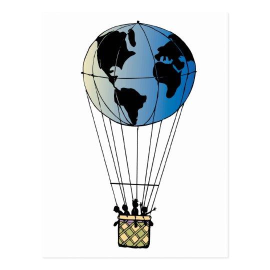 World Balloon Postcard