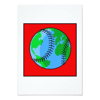 World Baseball Logo 5x7 Paper Invitation Card