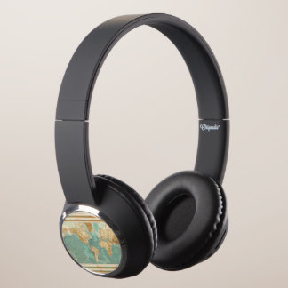 World bathyorographical map headphones