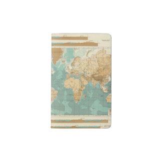 World bathyorographical map pocket moleskine notebook