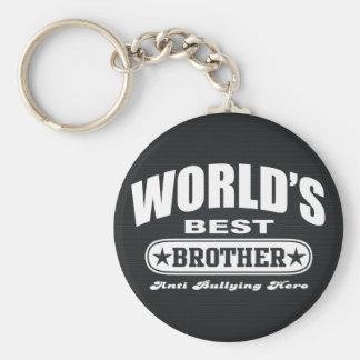 World Best Brother (Anti Bullying Hero) Basic Round Button Keychain