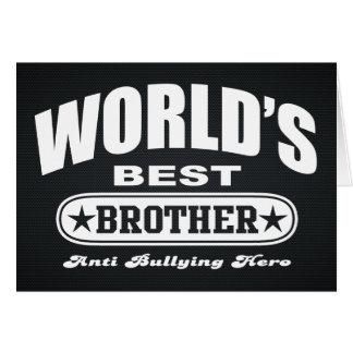 World Best Brother (Anti Bullying Hero) Card
