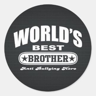 World Best Brother (Anti Bullying Hero) Classic Round Sticker