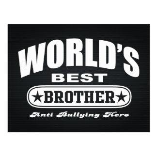 World Best Brother (Anti Bullying Hero) Postcard
