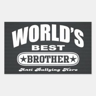 World Best Brother (Anti Bullying Hero) Rectangular Sticker
