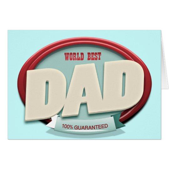 world best dad card
