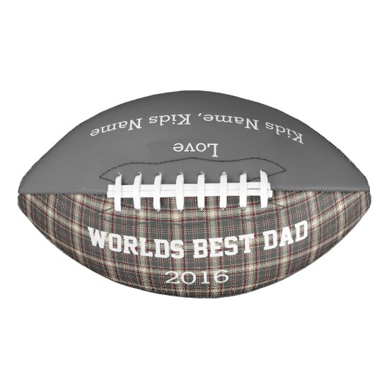 World Best Dad, Customizable Football Gift,