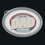 "world best dad oval belt buckle<br><div class=""desc"">world best dad</div>"