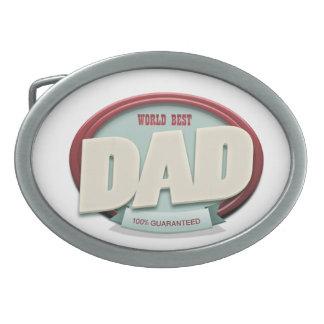 world best dad oval belt buckles
